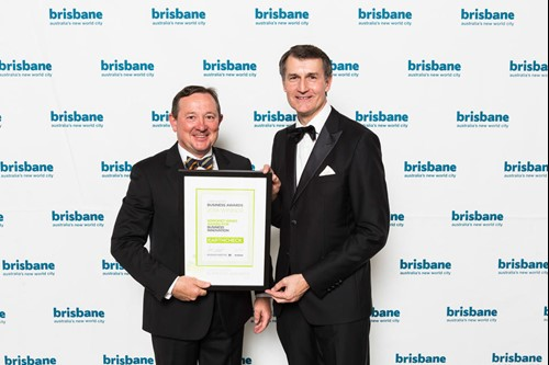 Lord Mayor of Brisbane with EarthCheck CEO